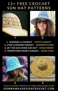 12 Free Crochet Sun Hat Patterns