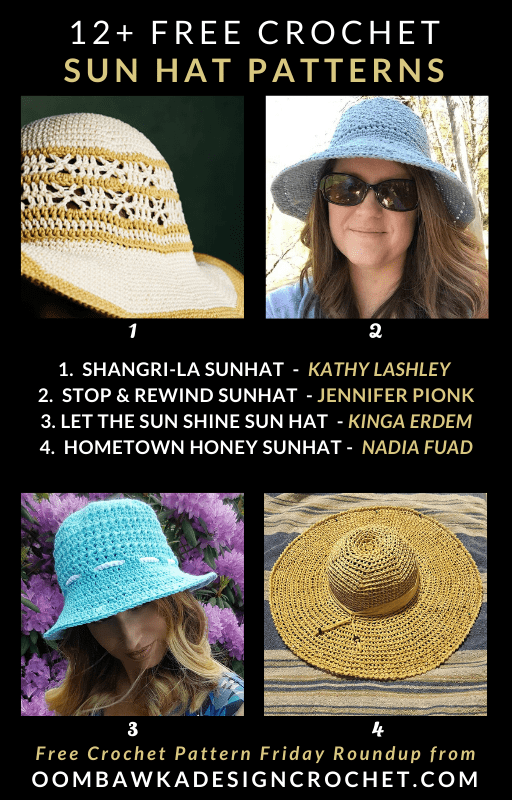 12 Free Crochet Sun Hat Patterns