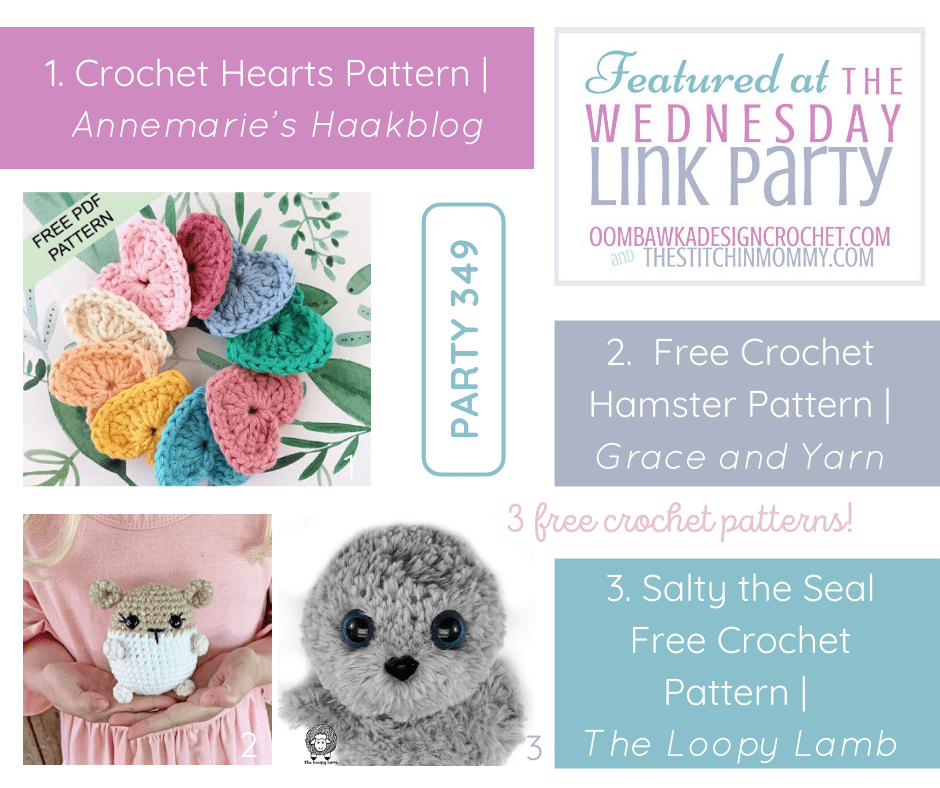 2020 Wednesday Link Party 349 Featured Favorites 3 Free Patterns