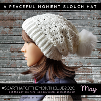 A Peaceful Moment Slouch Hat Oombawka Design Crochet MAY