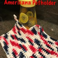 Americana Potholder Featured at Wednesday Link Party 346