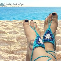 Beach Day Barefoot Sandals Pattern by Rhondda Mol