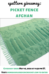 Crochet Picket Fence Afghan ePattern Giveaway ends May 16 2020 1159 pm ET crochetersofinstagram