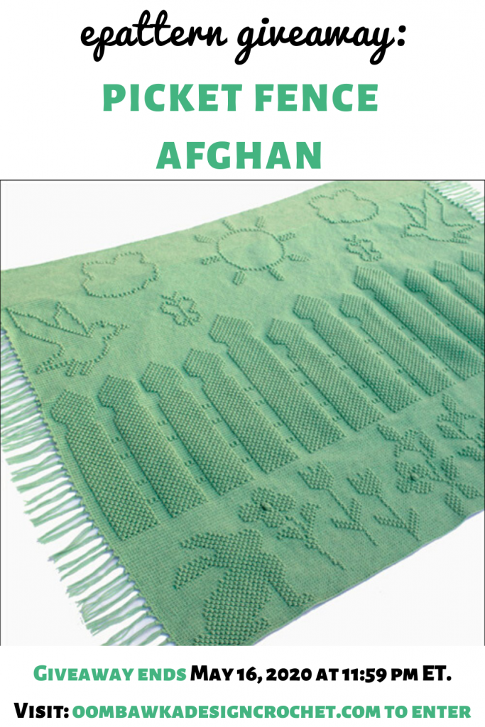 Crochet Picket Fences Afghan ePattern Giveaway ends May 16 2020 1159 pm ET crochetersofinstagram