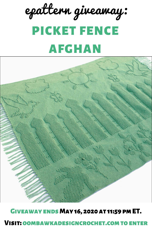 Crochet Picket Fence Afghan