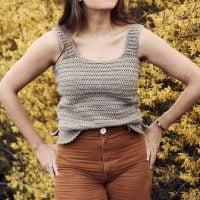 Milla Crochet Tank by Alexandra Tavel