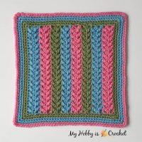 Featured: Framed Herringbone - 12 inch Block by My Hobby is Crochet