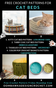 Free Crochet Cat Bed Patterns - Free Crochet Pattern Friday ODC