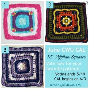 Choose Your Own CAL Adventure – June 2017 – 12″ Afghan Squares – Time to Vote!