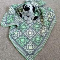 Featured: Saga Baby Blanket from Linda's Crafty Corners
