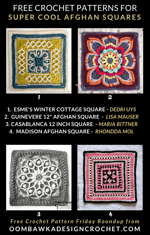 Super Cool Free Afghan Square Patterns PIN