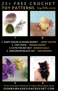 Tiny Micro Little Crochet Free Patterns for Toys Free Pattern Friday Roundup