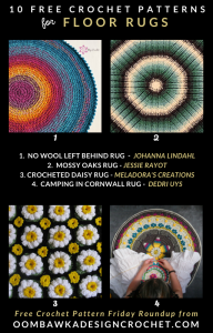 10 Free Crochet Rug Patterns - Free Pattern Friday at Oombawka Design Crochet