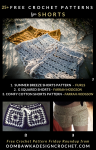 25 Free Crochet Shorts Patterns Free Pattern Friday at Oombawka Design Crochet