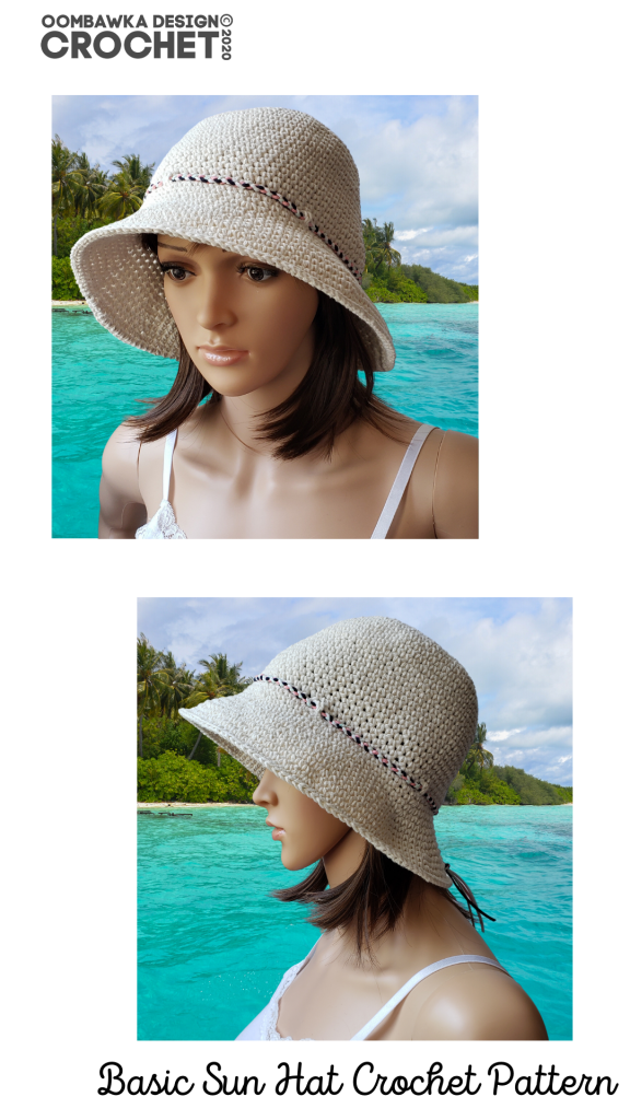 Basic Sunhat Crochet Pattern Oombawka Design Crochet