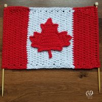Crocheted Canadian Flag