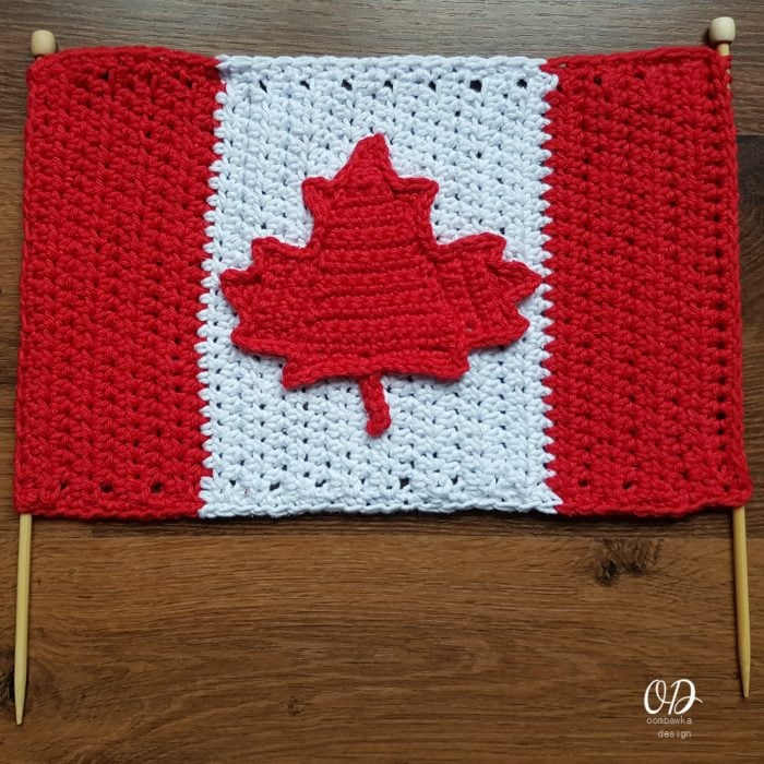 Canada Day Flag - Free Crochet Pattern - Oombawka Design