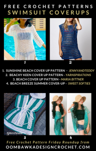 Free Crochet Patterns for Swimsuit Cover Ups Free Pattern Friday Roundup ODCrochet