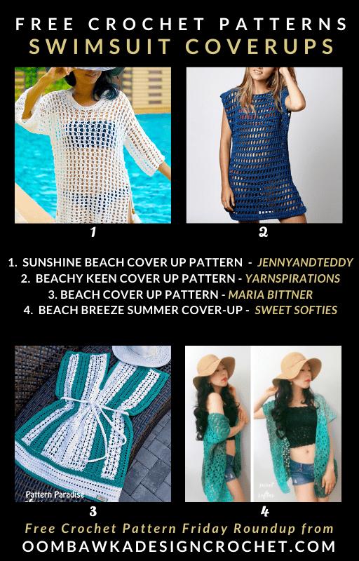 Free Swimsuit Cover Up Crochet Patterns Oombawka Design Crochet
