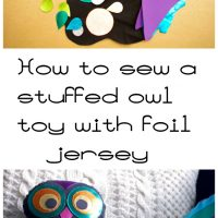 How to Sew a Stuffed Owl Toy DIY Free Sewing Tutorial - Featured at Wednesday Link Party 353