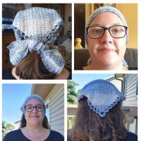 June 2020 Scarf of the Month Club CAL Windy Day Head Scarf Rhondda Mol Oombawka Design Crochet
