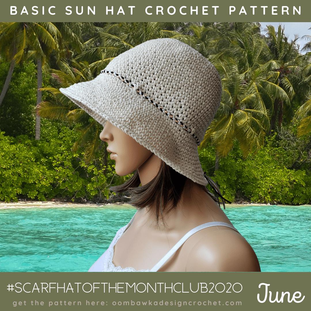 Spring Hat Summer Hat Crochet Summer Hat Aloha Crochet Hat Girls Hat Ready to Ship Sun Hat Toddler Hat Newborn Summer Hat