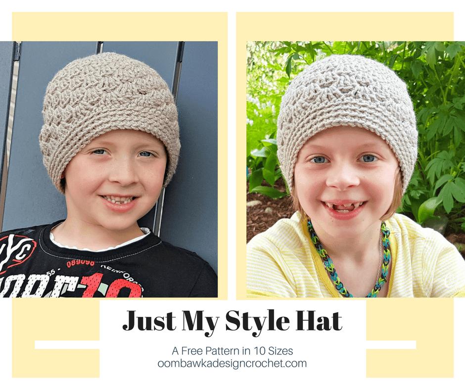 Just My Style HatA Free Pattern in 10 Sizesoombawkadesigncrochet.com