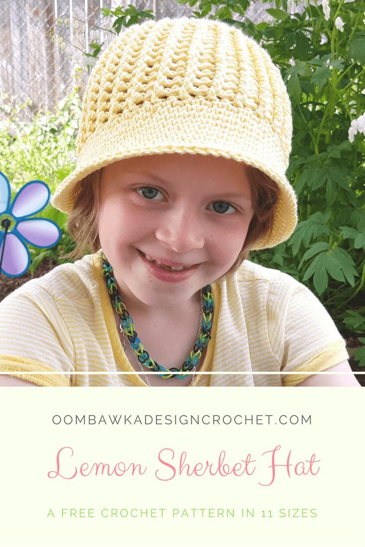 Lemon Sherbet Hat A Free Crochet Pattern in 11 Sizes by Oombawka Design