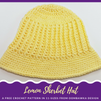 Lemon Sherbet Sunhat – Free Pattern in 11 Sizes