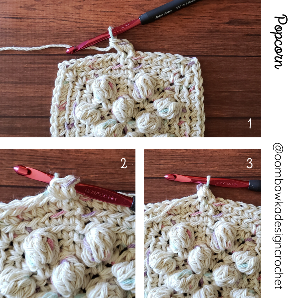 Popcorn Stitch - Rhondda's Scrubbie Dishcloth Pattern
