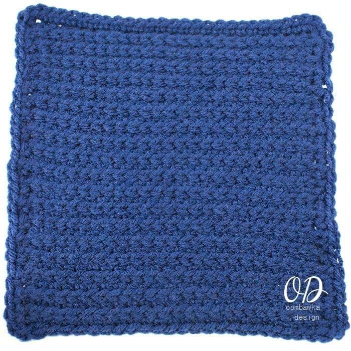Rib Stitch 8 Inch Square | Rib Stitch Tutorial @OombawkaDesign