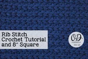 Rib Stitch Tutorial | | Rib Stitch Tutorial @OombawkaDesign
