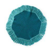 Round Fringe Rug Pattern Yarnspirations