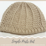 Simple Posts Hat - Free Pattern in 10 Sizes