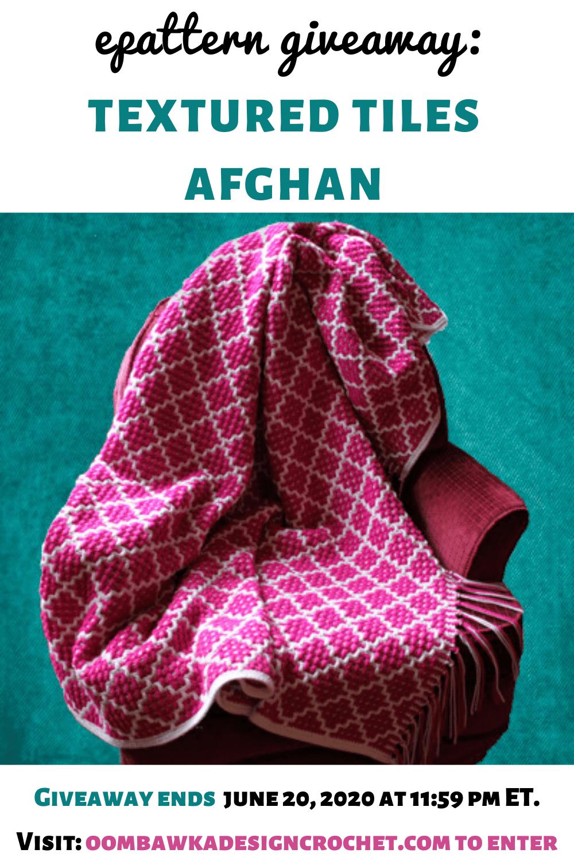 Textured Tiles Afghan Pattern