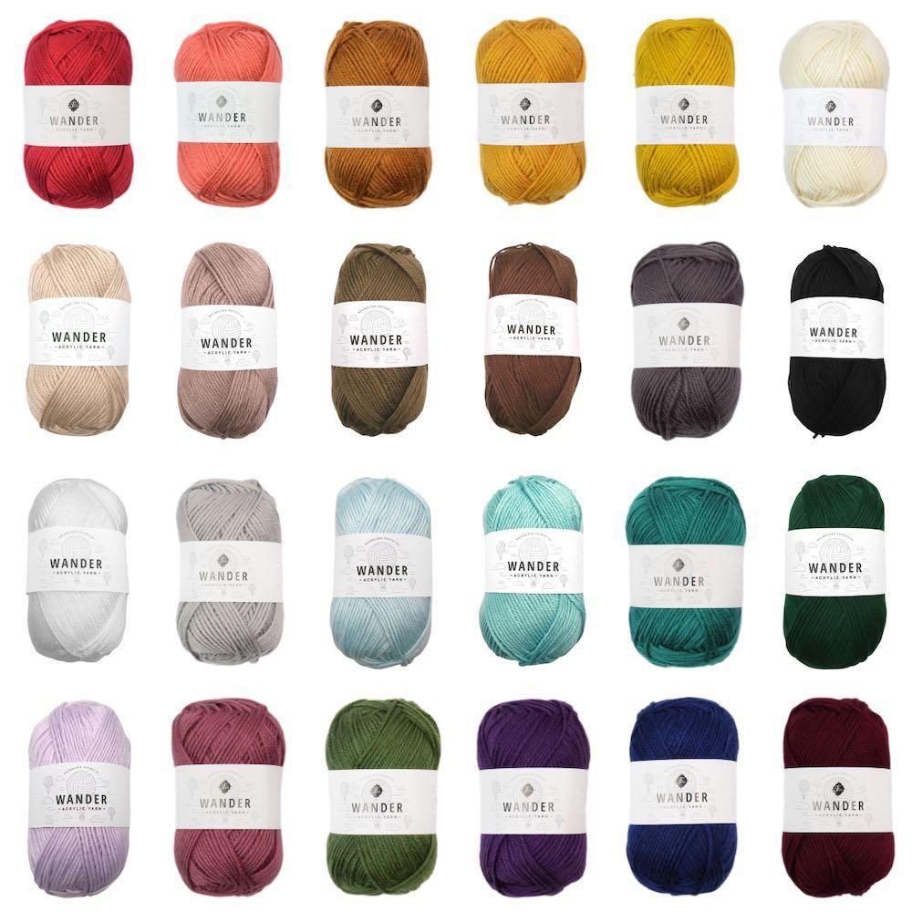 Premium Acrylic Medium Weight Wander Yarn
