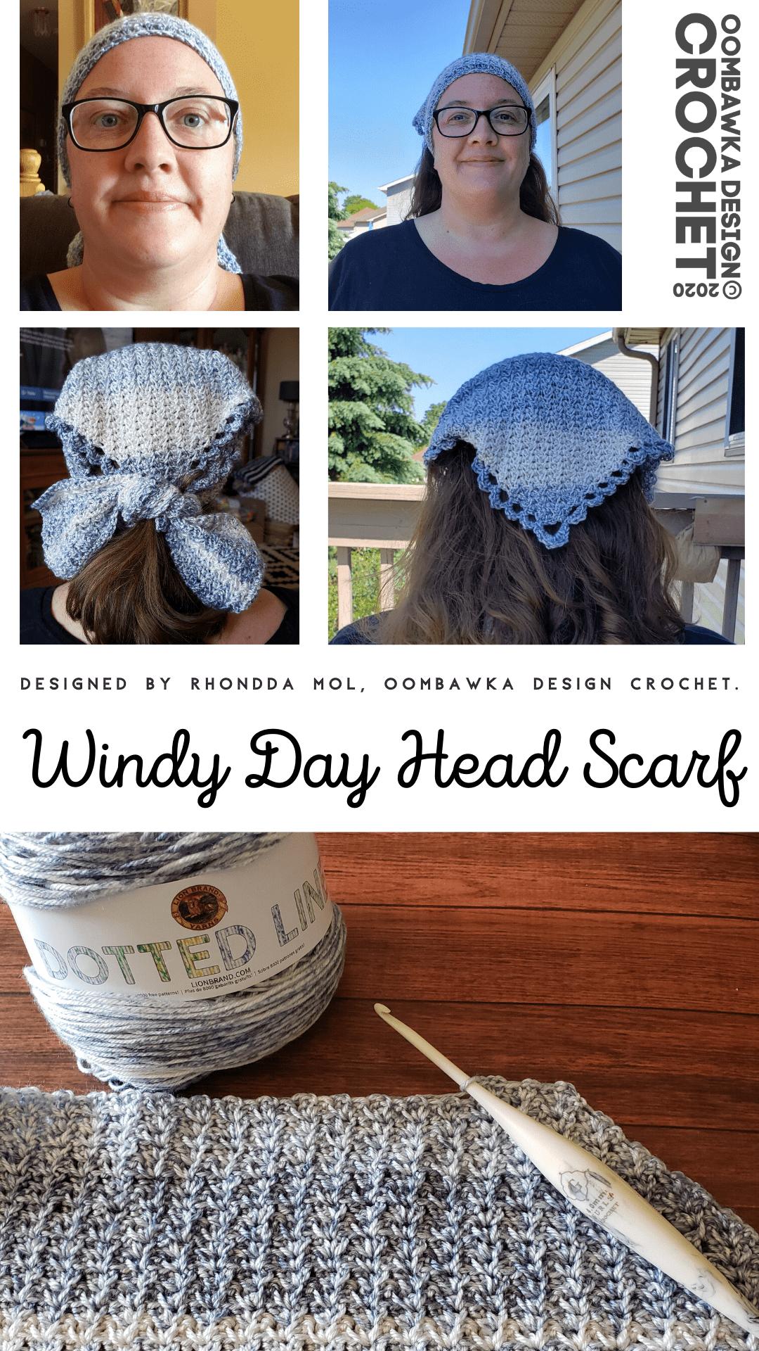 Windy Day Head Scarf Pattern
