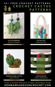 10 Free Crochet Cactus Patterns Free Pattern Friday OombawkaDesignCrochet