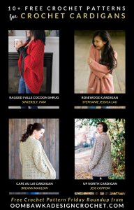 10 Free Crochet Cardigan Patterns - Free Pattern Friday at Oombawka Design Crochet