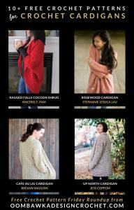 10 Free Crochet Cardigan Patterns - Free Pattern Friday at Oombawka Design Crochet