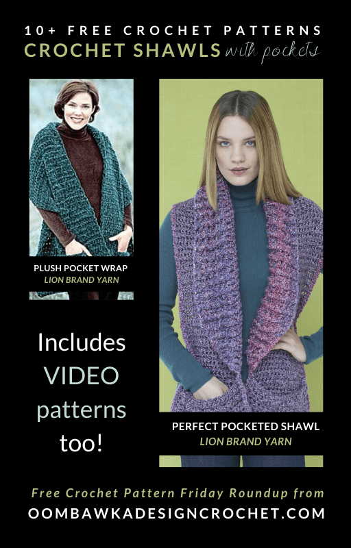 10 Free Patterns Crochet Shawls with Pockets Free Pattern Friday ODC