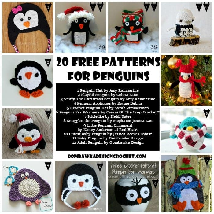 20 Free Patterns For Penguins Oombawka Design Crochet