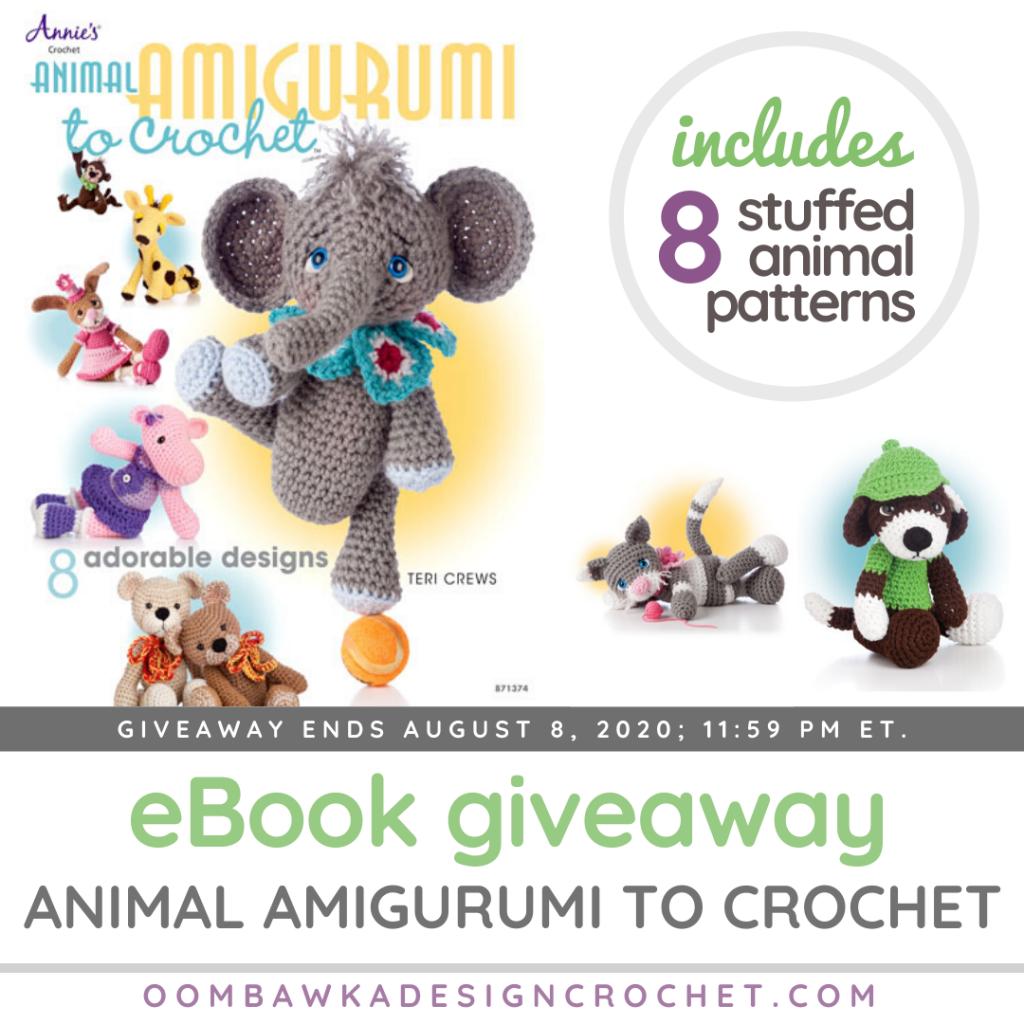 Animal Amigurumi to Crochet Annie's Craft Store eBook Giveaway at Oombawka Design