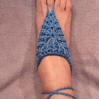 Barefoot Sandals Ribbed Pattern by Dania Carmen