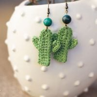 Cactus Earring Pattern Bethany Dearden Featured at Free Pattern Friday