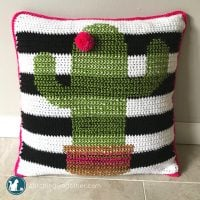 Cactus Pillow Pattern Jessica Underwood Featured at Free Pattern Friday