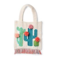 Cactus Tote Pattern Yarnspirations Featured at Free Pattern Friday