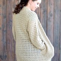 Cafe Au Lait Cardigan by Hooked on Homemade Happiness Featured at Free Pattern Friday