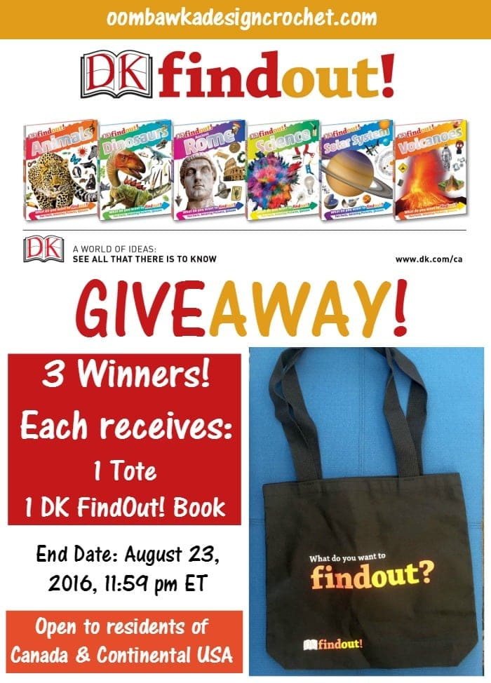 Giveaway DK FindOut! Book and Tote