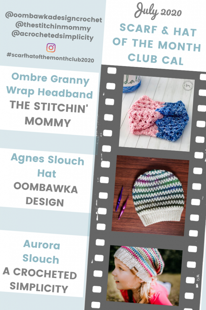 July 2020 Scarf and Hat of  the Month Club 2020 Hats ODC TSM ACS